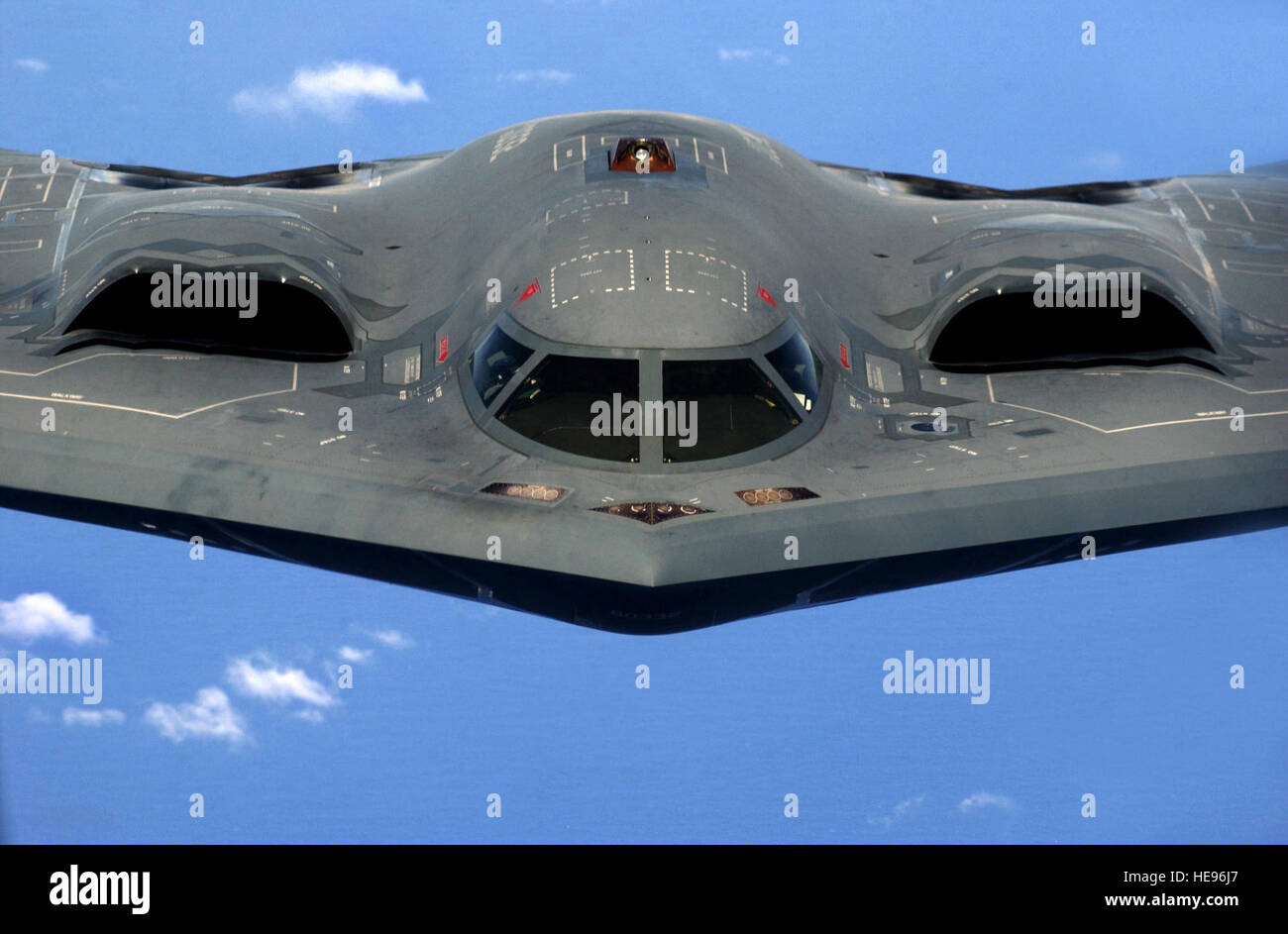 A U.S. Air Force B-2 Spirit 'Stealth' bomber, 393rd Expeditionary Bomb Squadron, 509th Bomb Wing, Whiteman - Stock Image