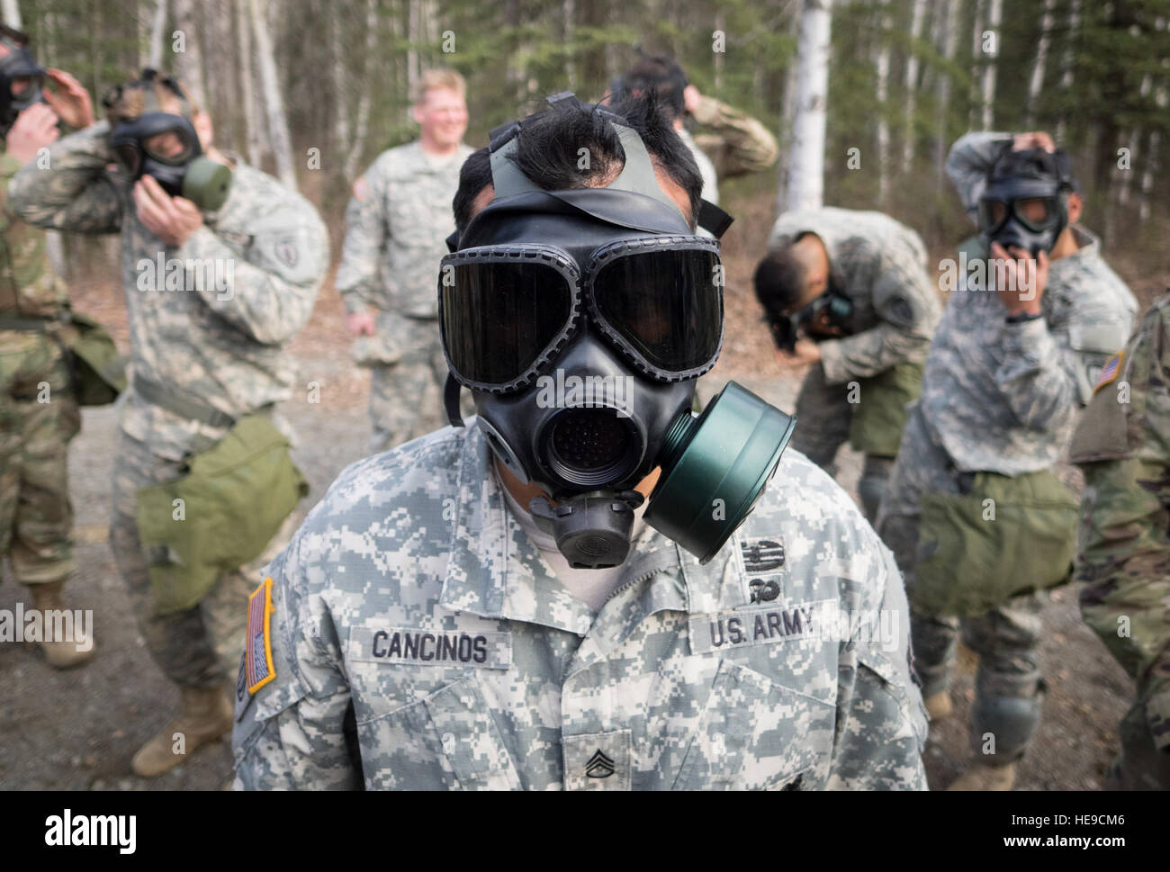 U.S. Army Staff Sgt. Henry Cancinos, assigned to Bravo Troop, 1st Squadron (Airborne), 40th Cavalry Regiment, 4th Stock Photo