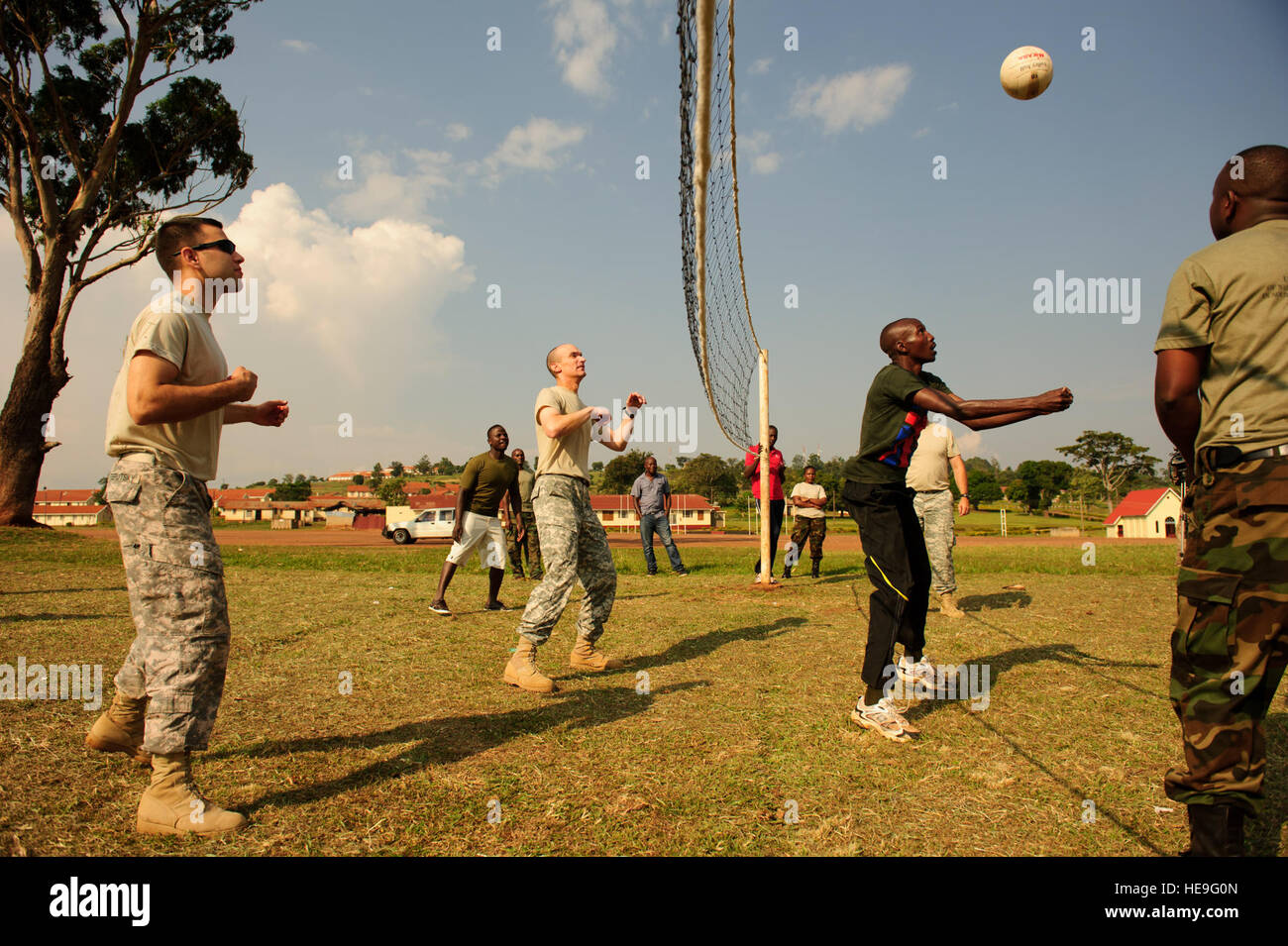 Uganda People's Defense Force officers attending a military decision-making process and information operations - Stock Image