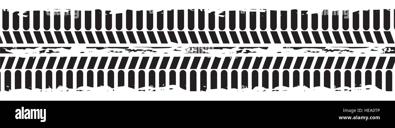 tire tracks mark isolated icon vector illustration design Stock Vector