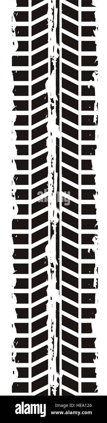 tire tracks mark isolated icon vector illustration design - Stock Vector
