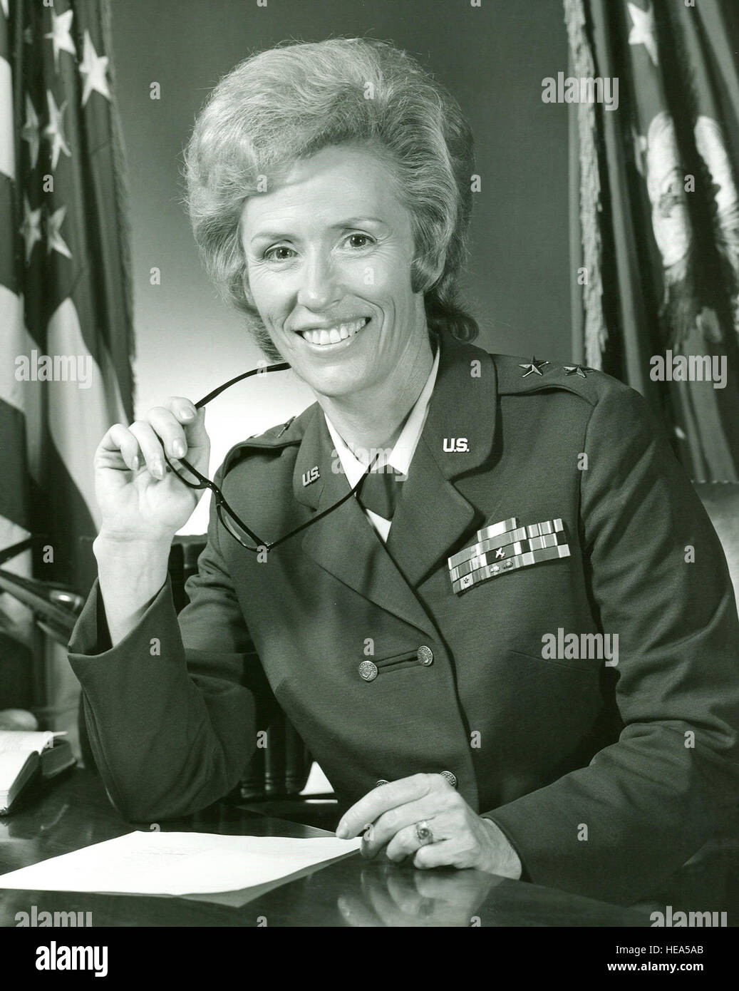 The first woman to serve as major general in the Air Force, and the Department of Defense, passed away Feb. 15. - Stock Image