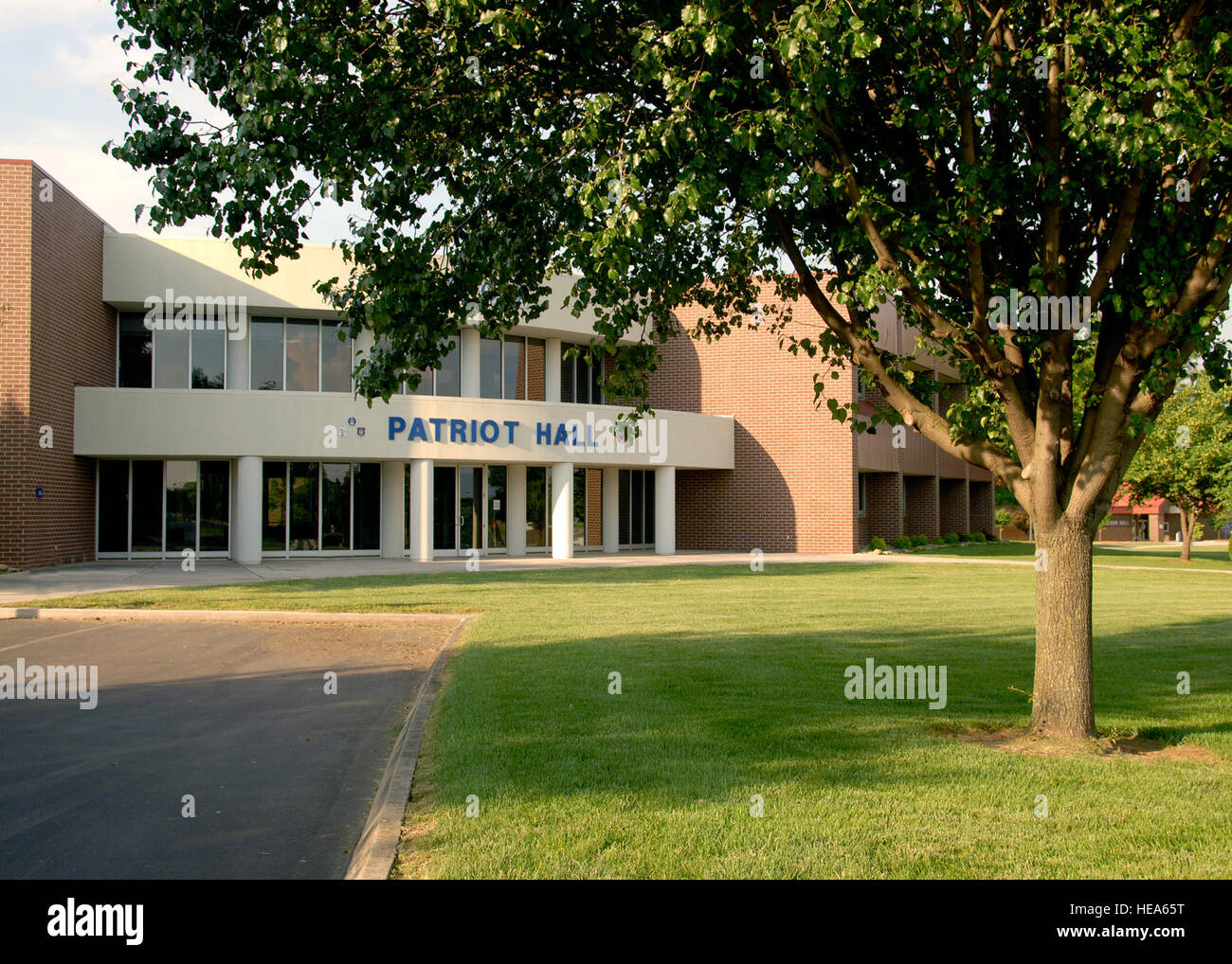 McGHEE TYSON ANGB, Tenn. -- Patriot Hall on the campus of The I.G. Brown Air National Guard Training and Education - Stock Image