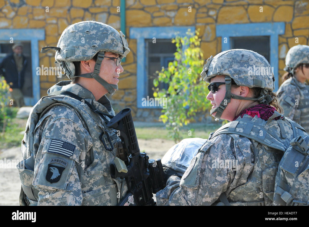 Us Army Maj Mary Parmenter Of Perry Iowa Left Speaks With Us