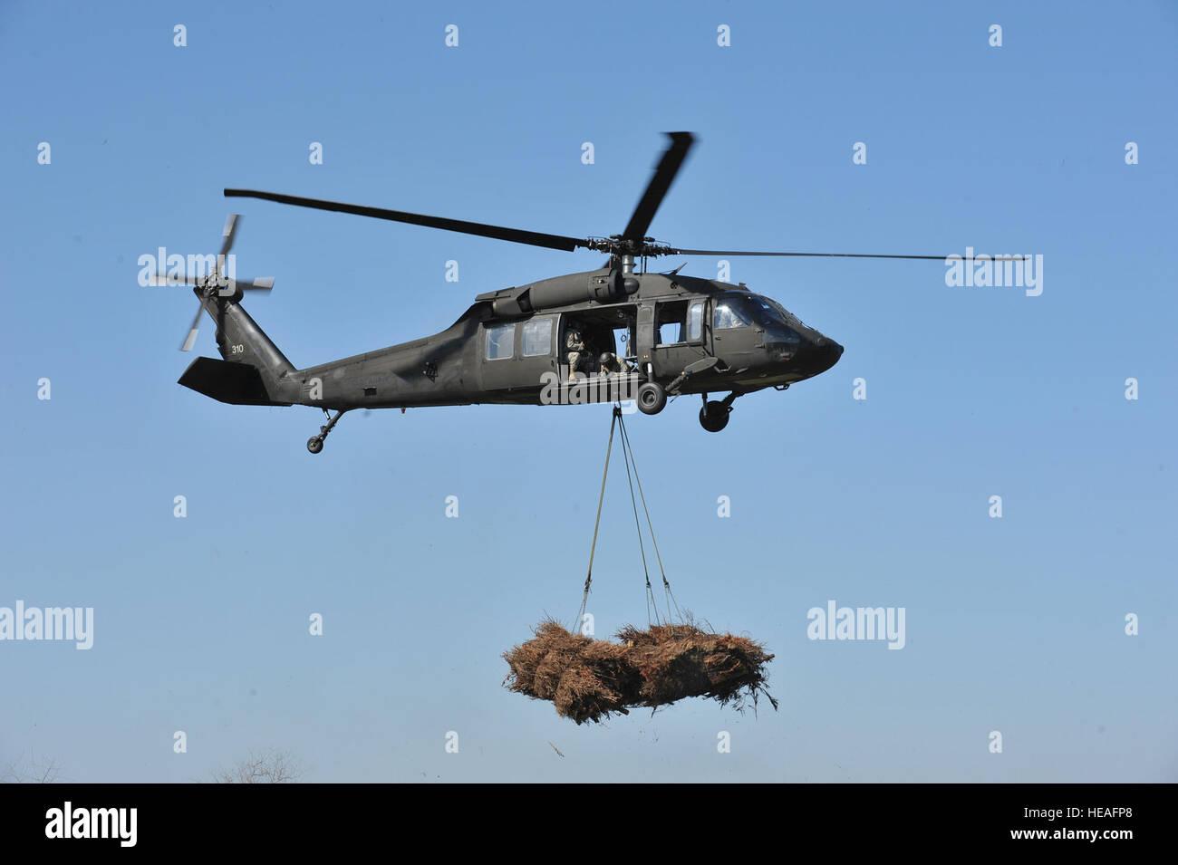 Louisiana National Guard UH-60 Black Hawks of the 1st