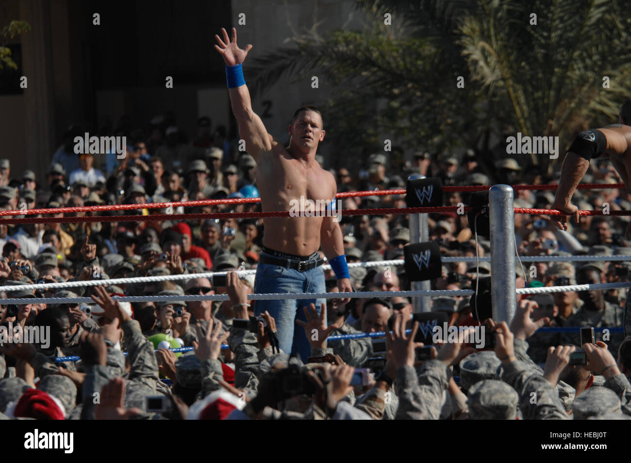 World Wrestling Entertainment Wrestler John Cena Greets The Crowd During WWE Show Sponsored By