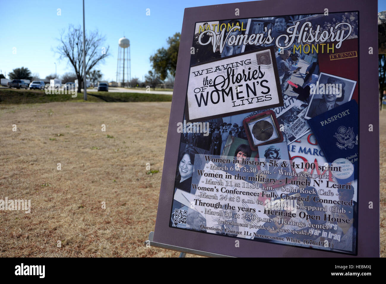 Women's History Month kicked off at Sheppard Air Force Base Texas with the 'women in history' 5K fun - Stock Image