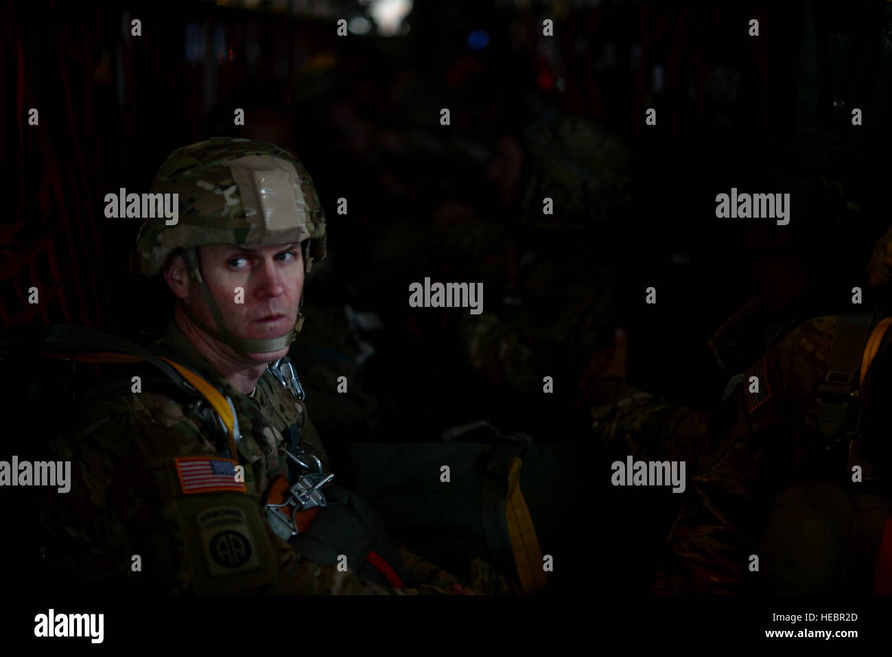 U.S. Army Lt. Col. William Kirby,4th Battalion, 319th Airborne field Artillery Regiment, 173rd Airborne Brigade - Stock Image
