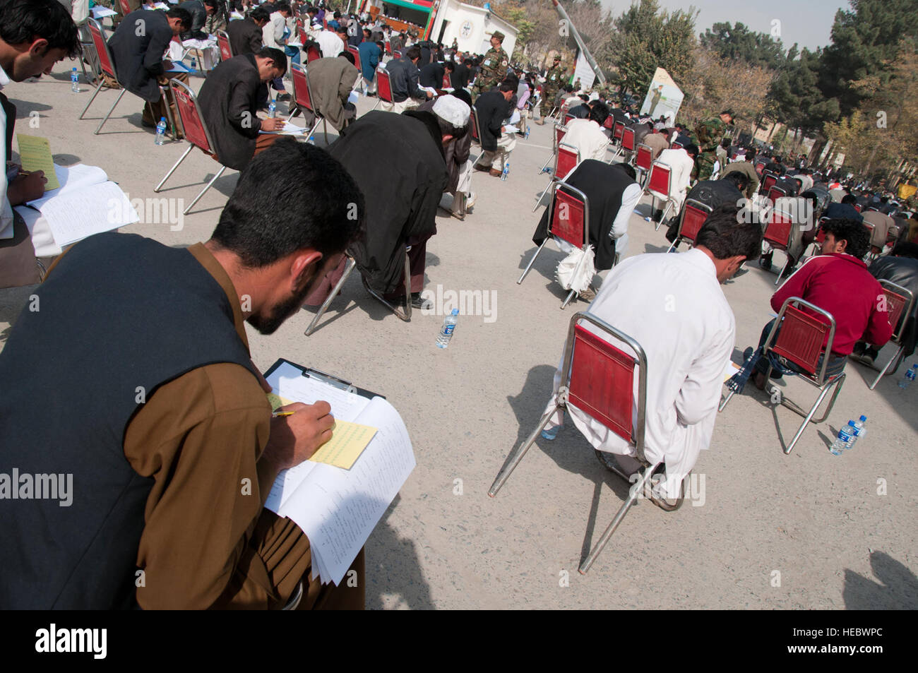 101104-F-1020B-036.jpg Kabul - More than 4,560 candidates take a test to compete for 600 available National Military Stock Photo