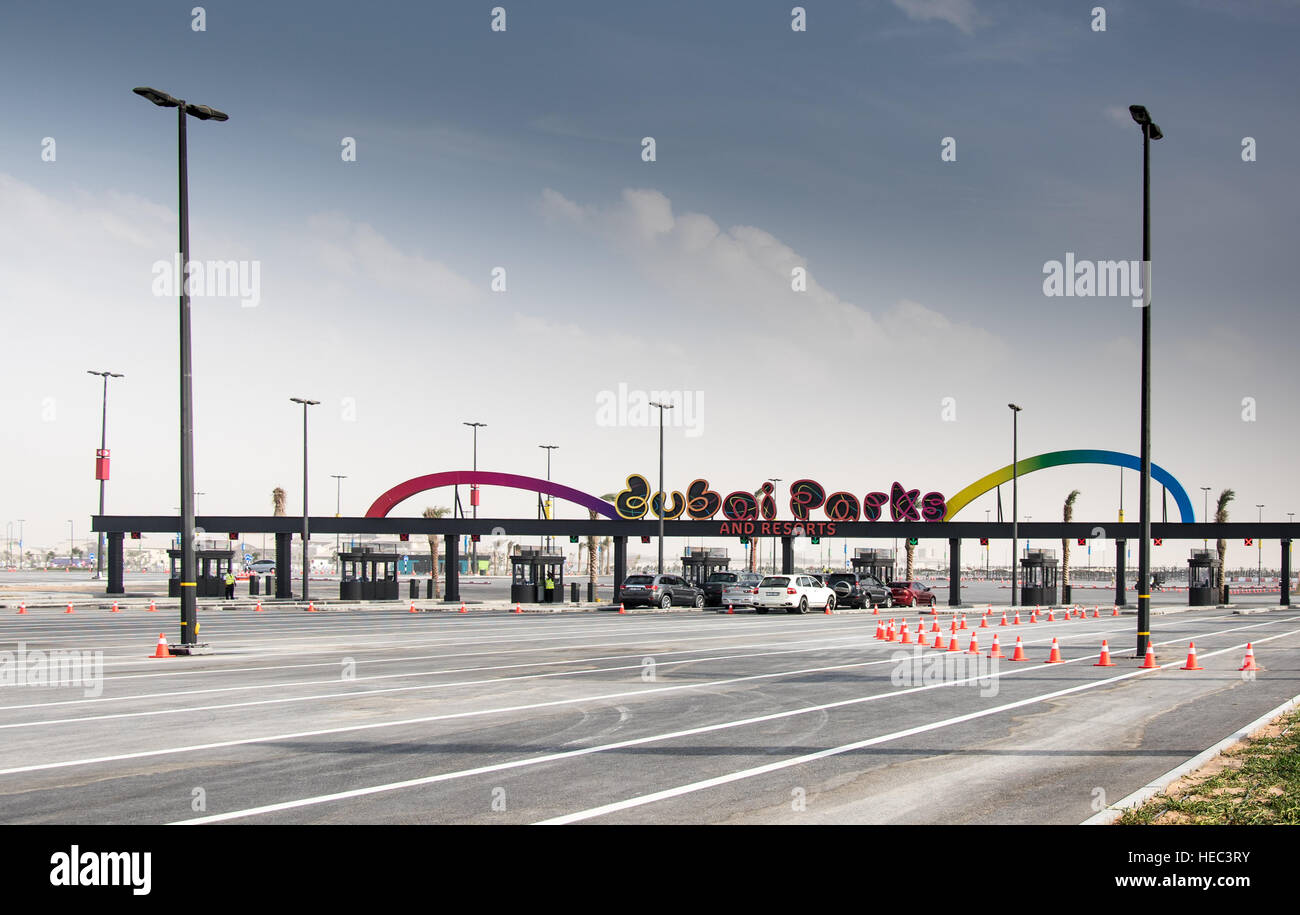 Dubai Parks and Resorts Motiongate Dubai United Arab Emirates - Stock Image