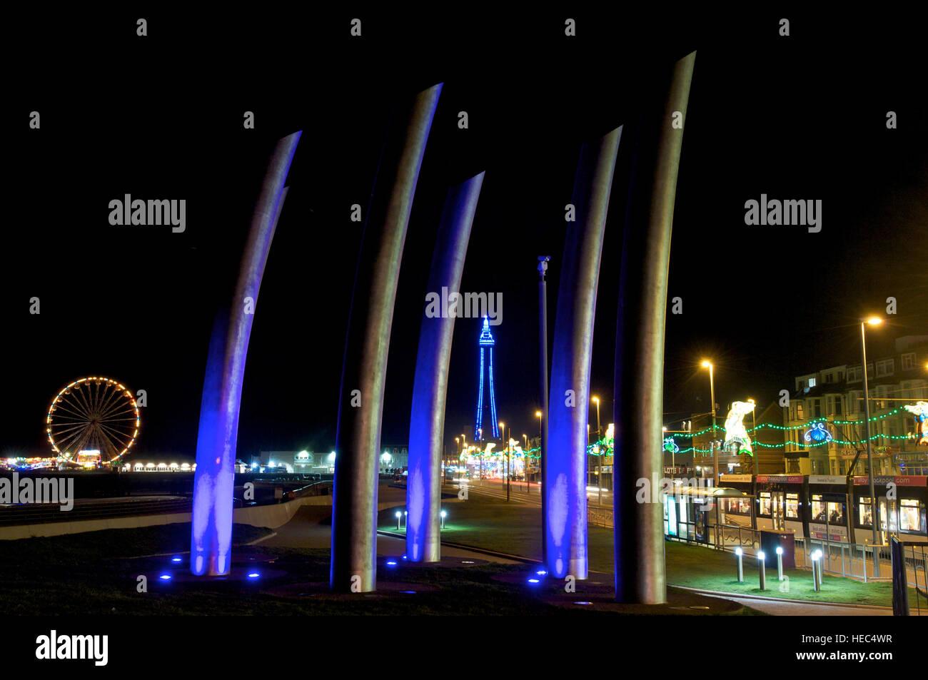 Blackpool annual illuminations - Stock Image