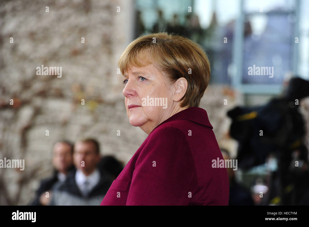 Angela Merkel welcomes world leaders for talks on the threat from Islamic State, held at the Reichstag - Berlin, - Stock Image