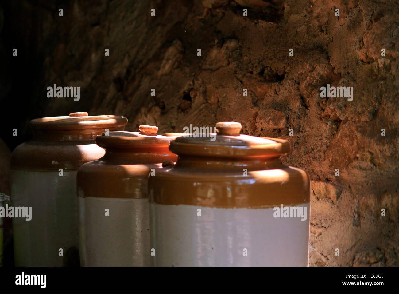 Wine bottles - Stock Image