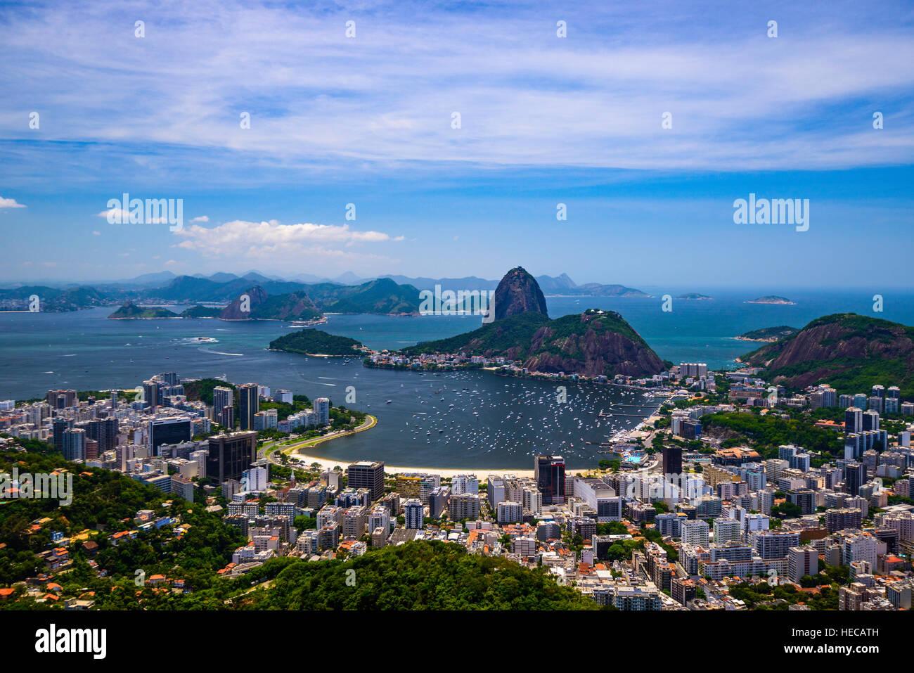 Sugar Loaf mountain, Rio de Janeiro, Brazil - Stock Image