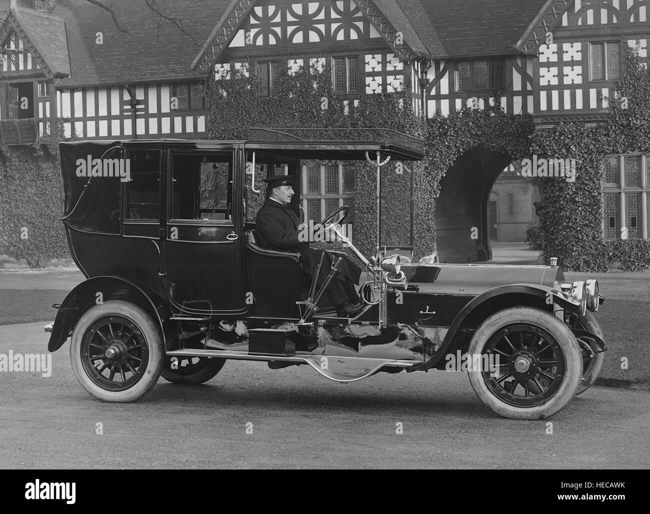1909 Wolseley 50hp Landaulette - Stock Image
