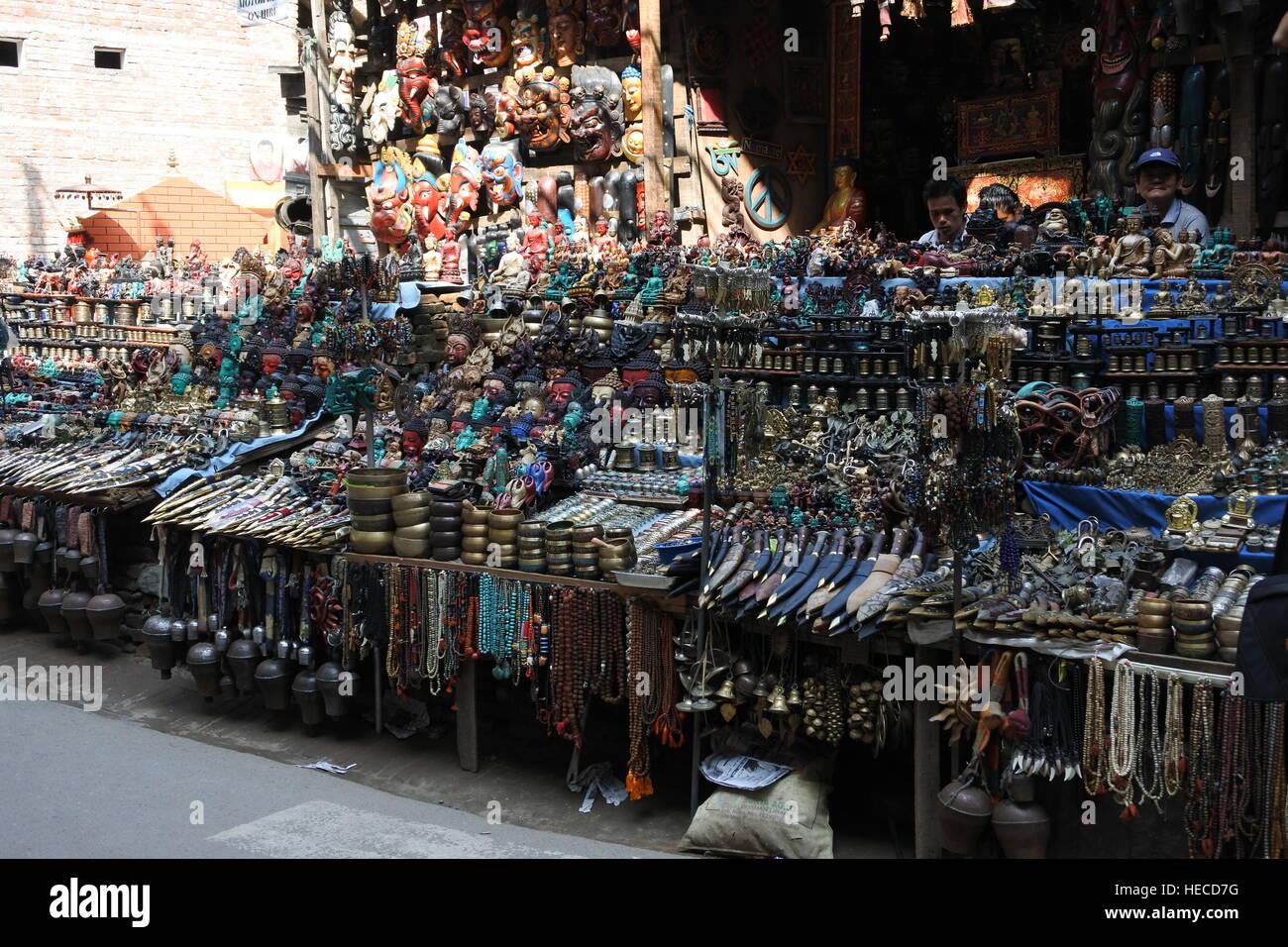 Dragon Tourist Market Kathmandu Nepa Stock Photos & Dragon Tourist