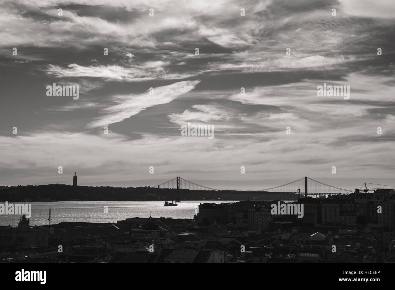 Lisbon -Tage River - Stock Image