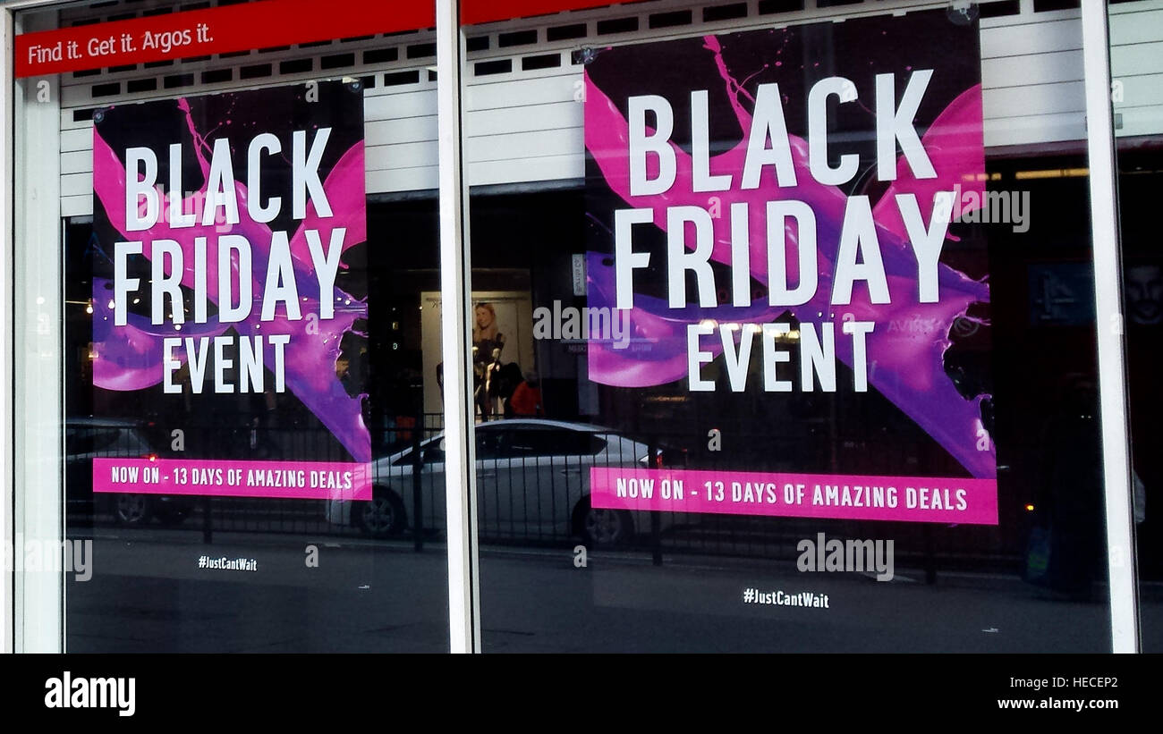 Argos Black Friday Deals High Resolution Stock Photography And Images Alamy