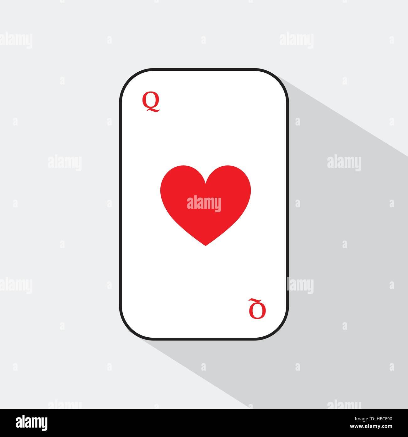 queen of hearts card vector stock photos amp queen of hearts