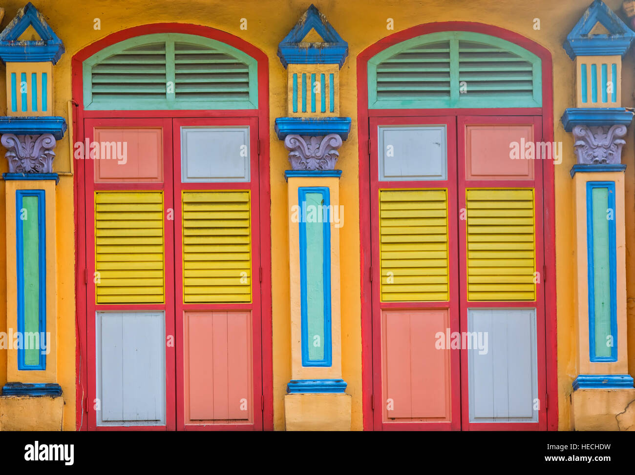 The historic villa of Tan Teng Niah, a pioneering Chinese businessman in Little India, Singapore - Stock Image