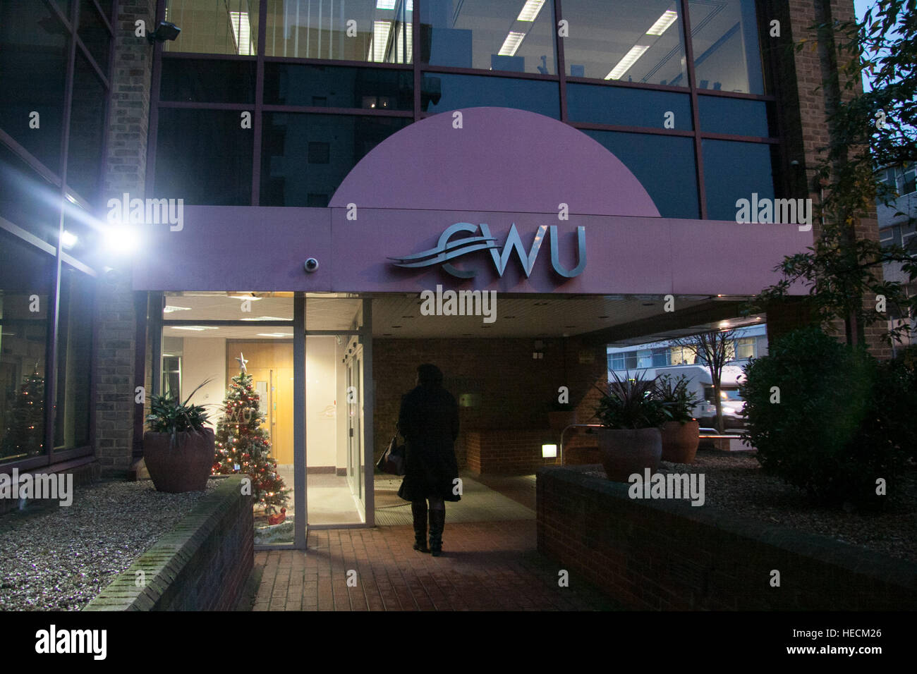 Wimbledon, London, UK. 19th Dec, 2016. Pictured the CWU headquarters in Wimbledon. The Communication Workers Union - Stock Image