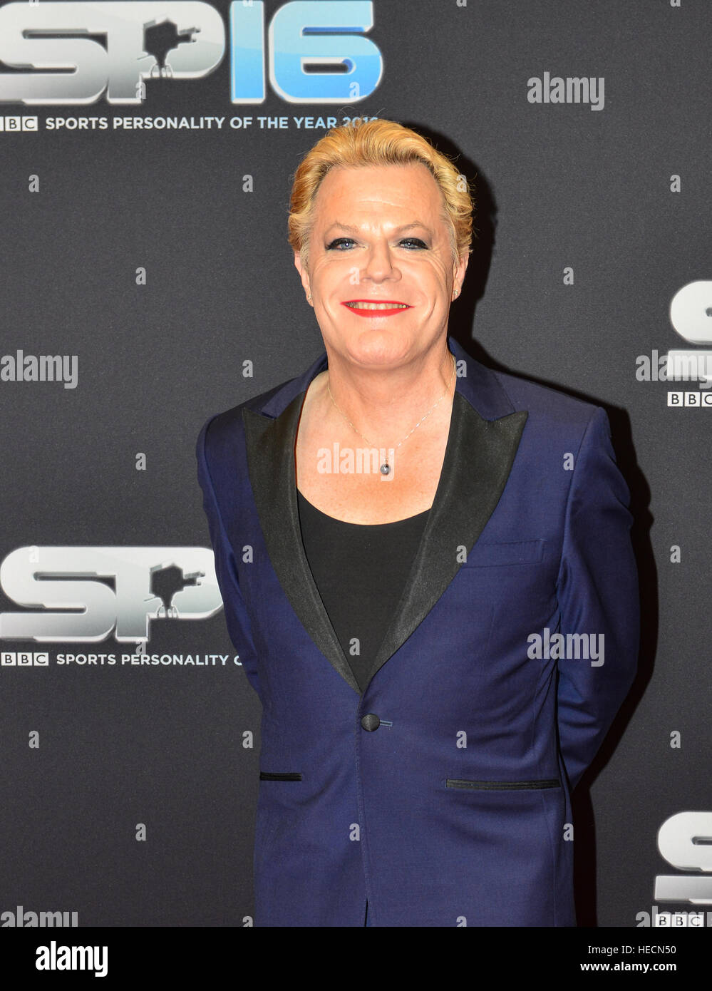 Eddie Izzard  arriving on the Red Carpet  the 2016 Sports personality Of The Year, Genting Arena, Birmingham, UK - Stock Image