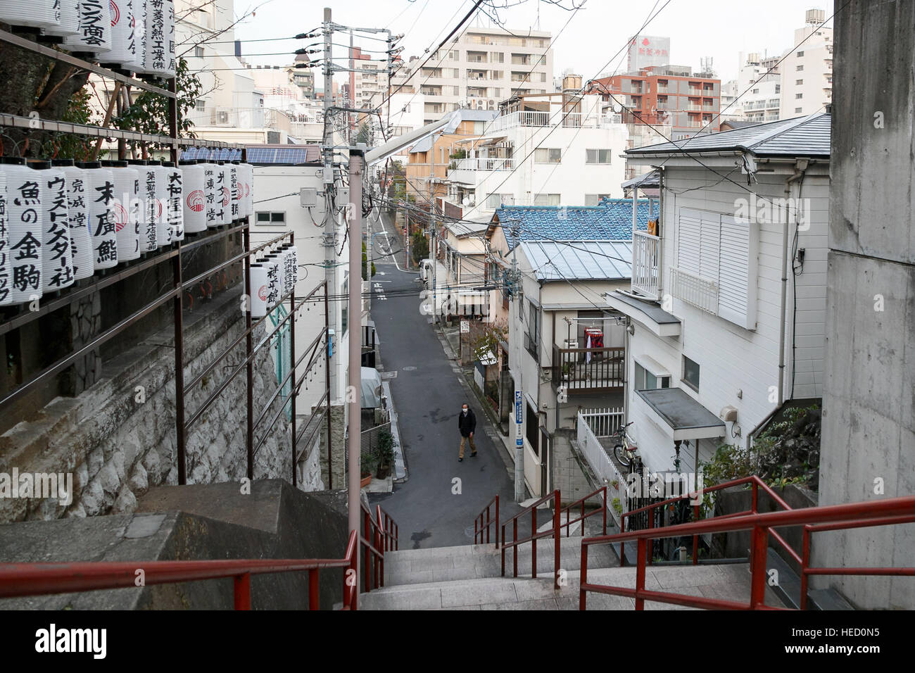 A View Of The Stairway Featured In The Movie Kimi No Na Wa Your Stock Photo Alamy