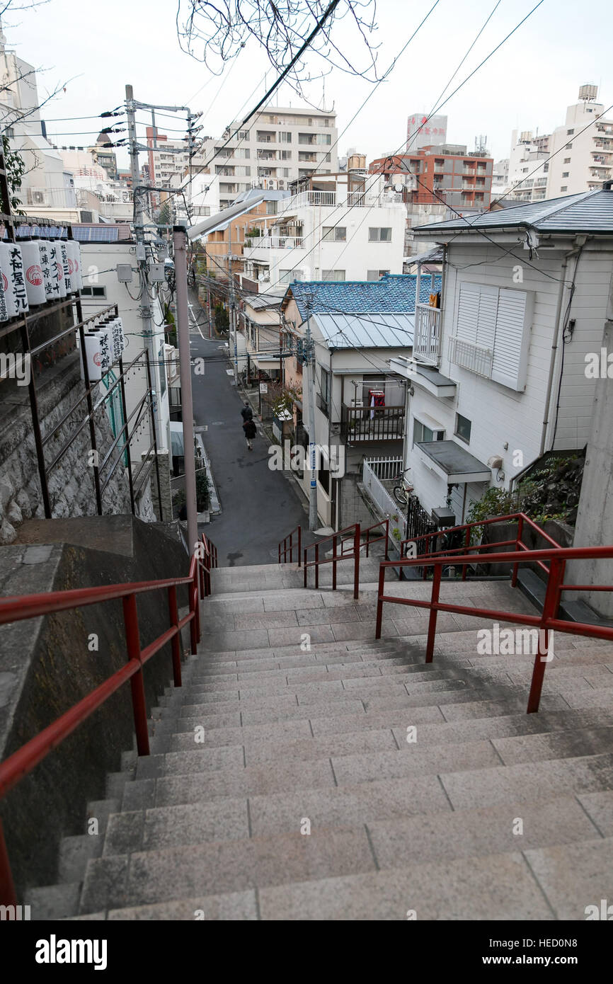 A View Of The Stairway Featured In The Movie Kimi No Na Wa Your
