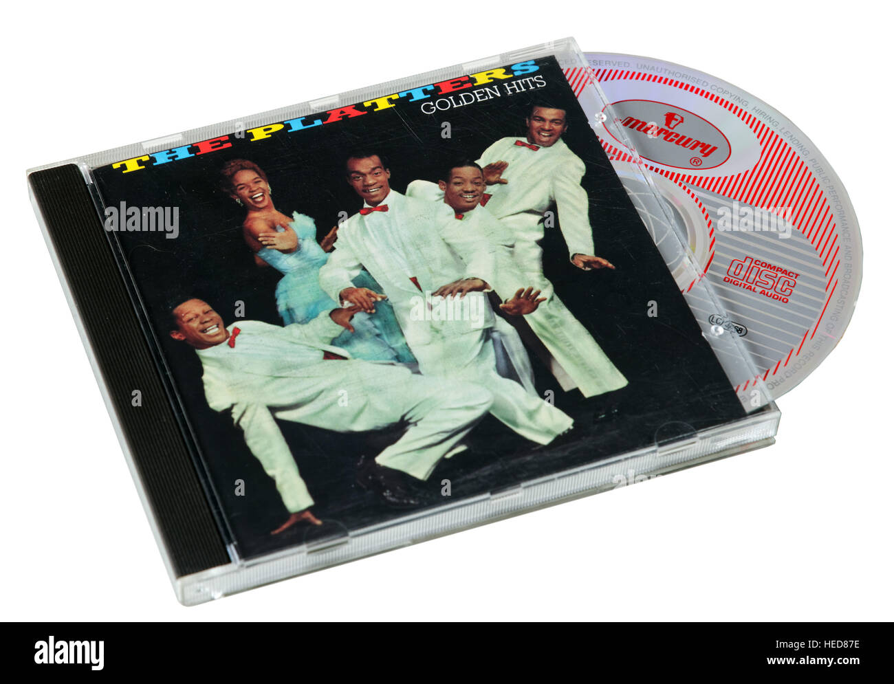 The Platters Greatest Hits CD - Stock Image