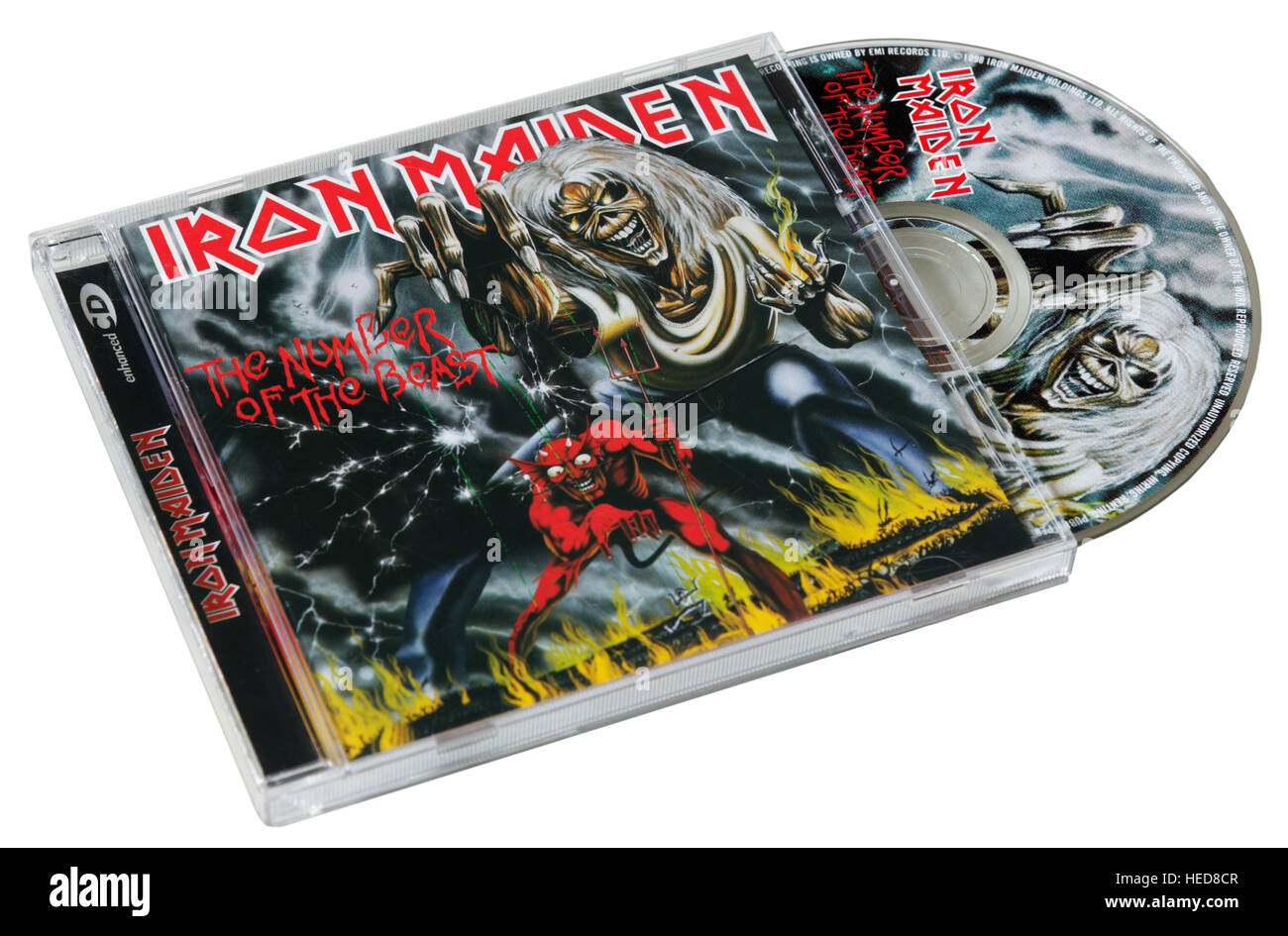 Iron Maiden The Number of the Beast CD - Stock Image