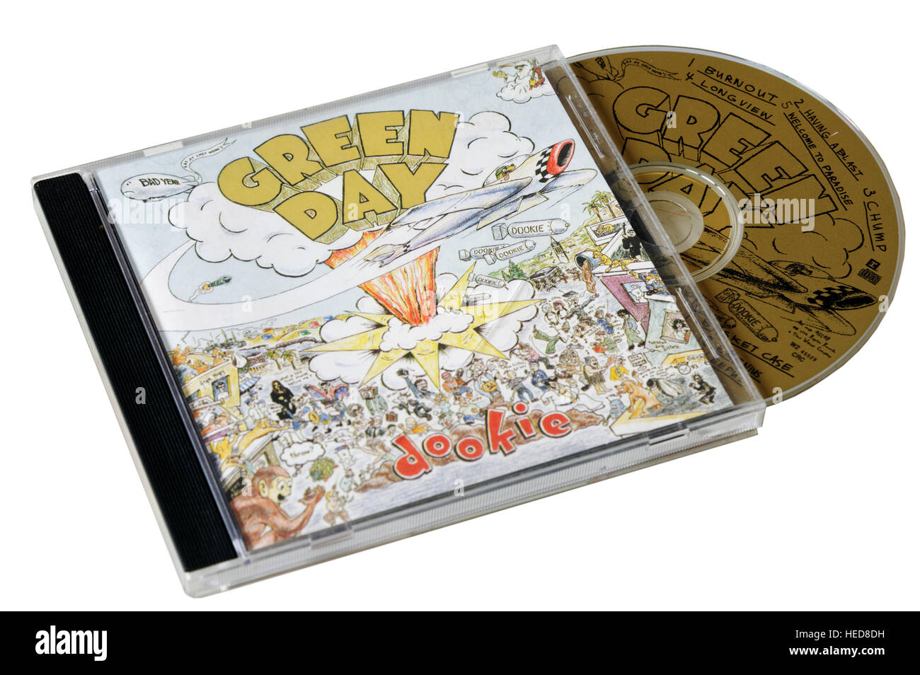 Green Day Dookie CD - Stock Image