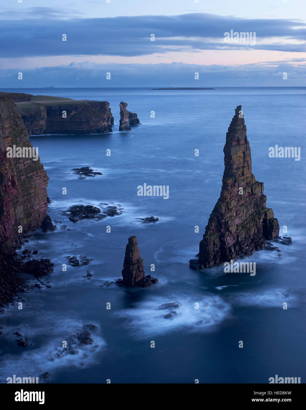 Stacks of Duncansby, Caithness, Scotland - Stock Image