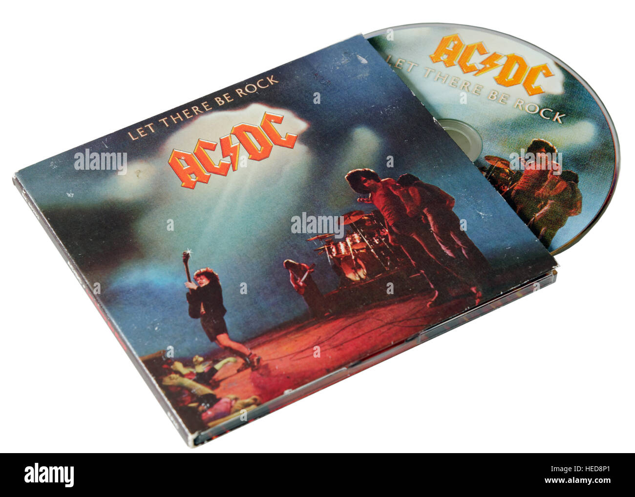 AC/DC Let There Be Rock CD - Stock Image