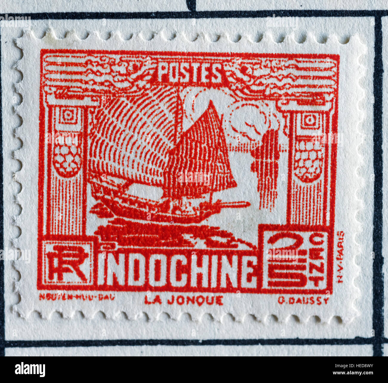 Postage Stamp from French Indochina - Stock Image