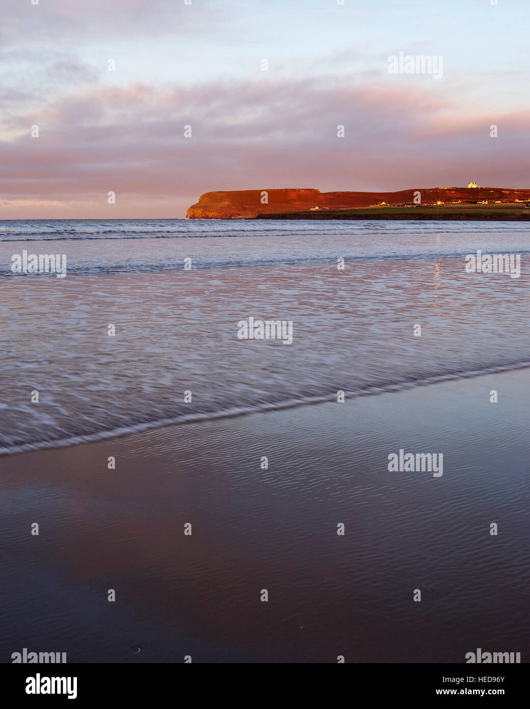 View to Dwarwick Head from Dunnet Bay beach, Caithness, Scotland - Stock Image