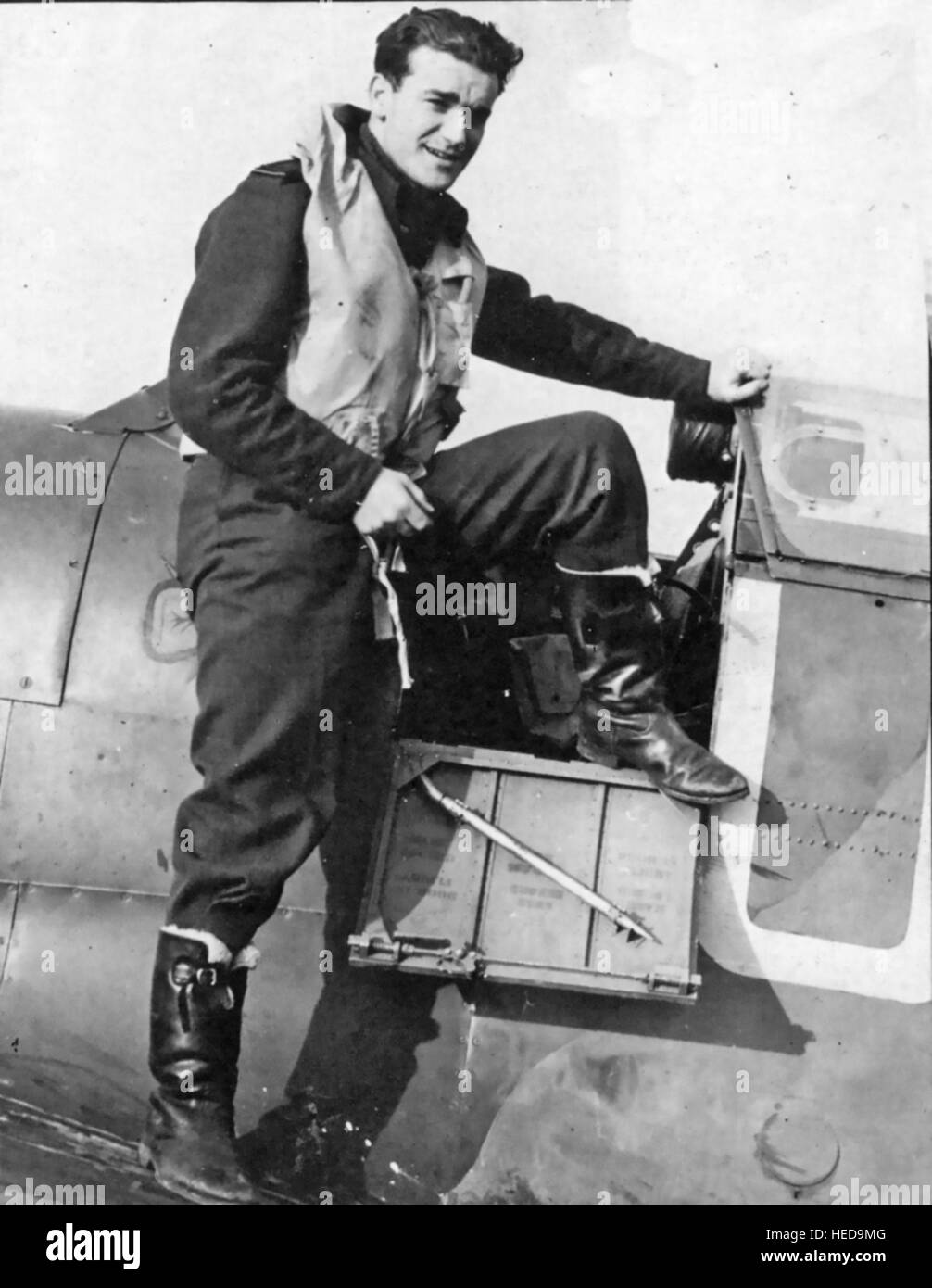 BRENDAN 'PADDY' FINUCANE (1920-1942) Irish-born  fighter pilot ace while flying with RAF 452 Squadron in - Stock Image