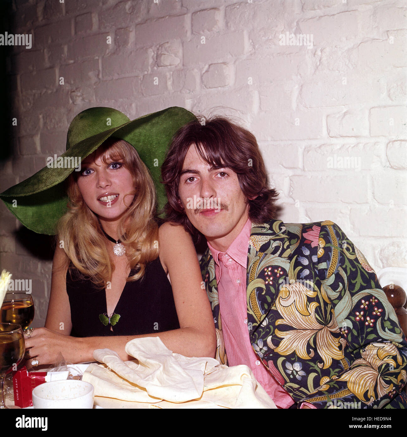 GEORGE HARRISON With Patti Boyd In 1967