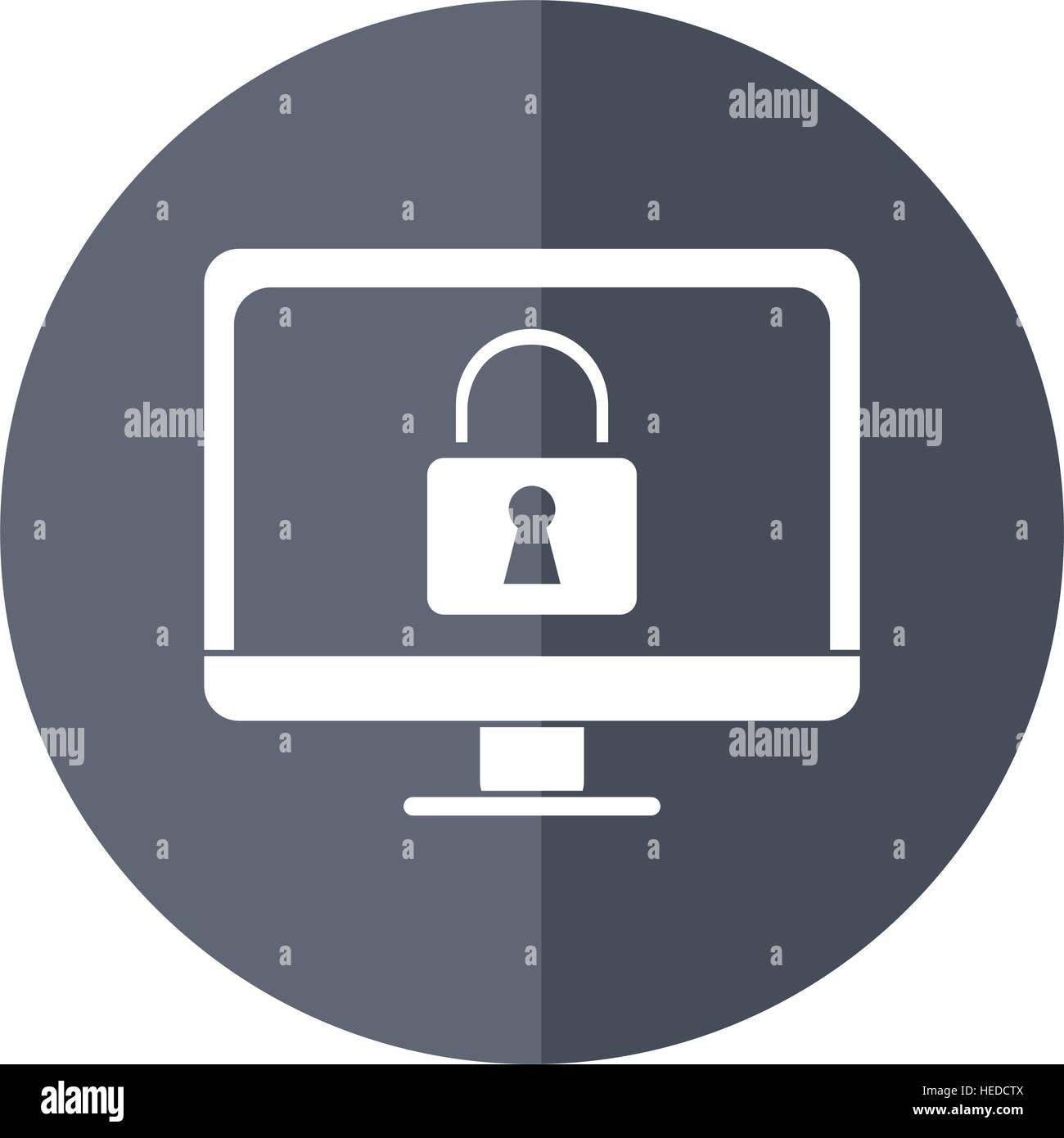 computer internet security system technology shadow - Stock Image