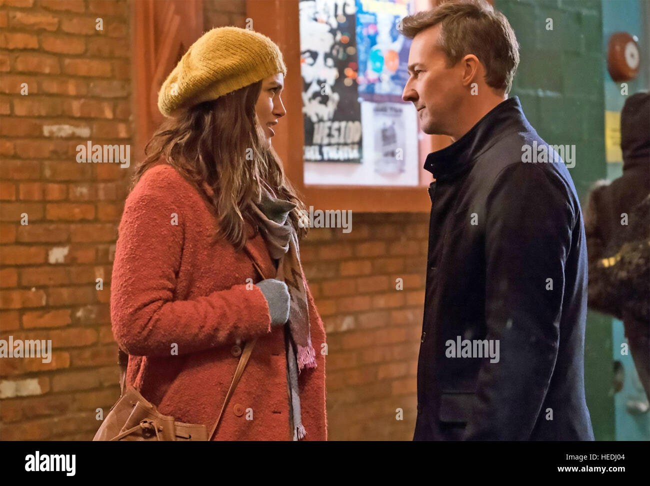 COLLATERAL BEAUTY 2016 Warner Bros film with Keira Knightley and Edward Norton - Stock Image