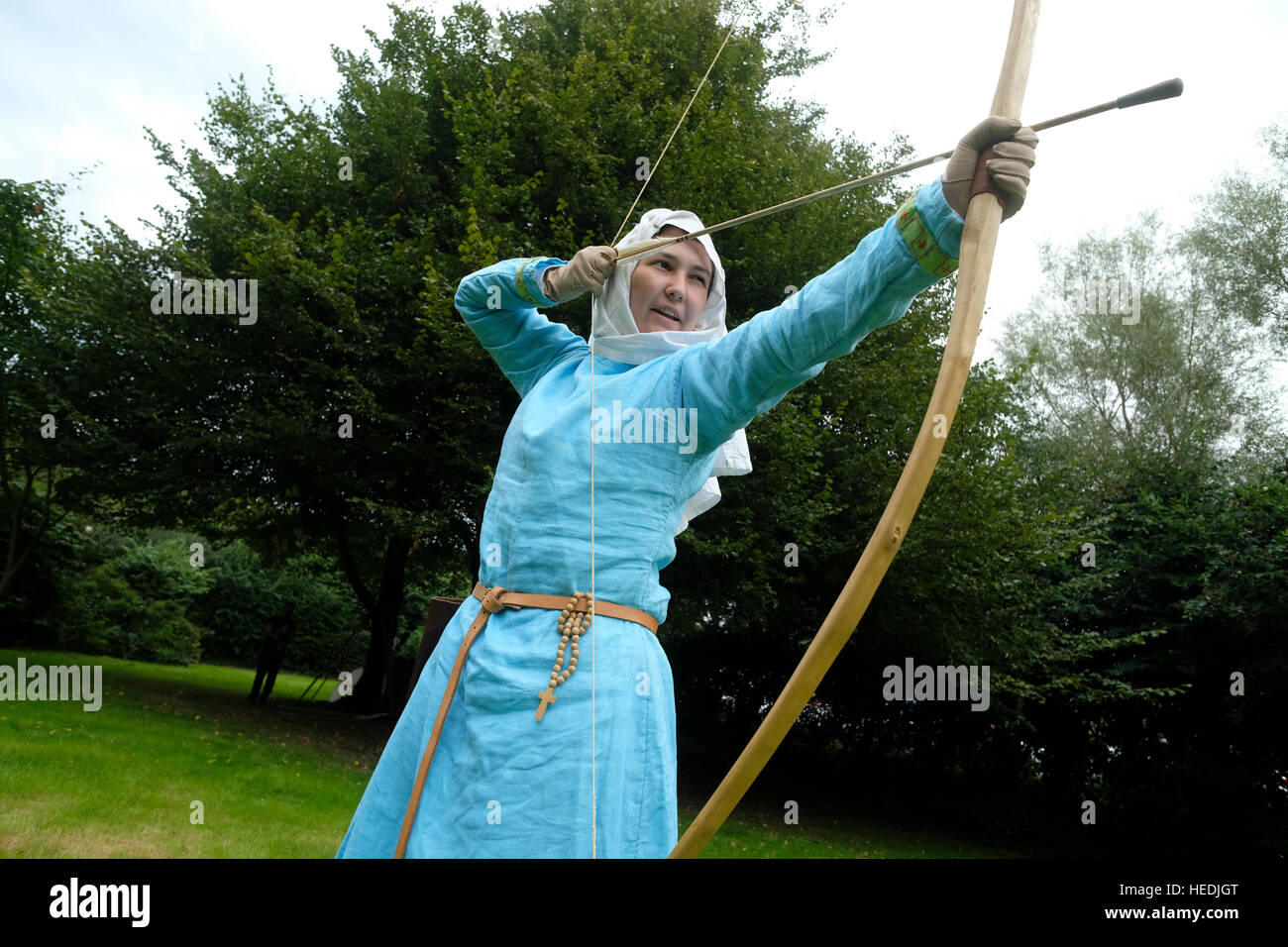 Aberystwyth University student society  - Historica Normannis (a 12th century reenactment group, focusing primarily - Stock Image