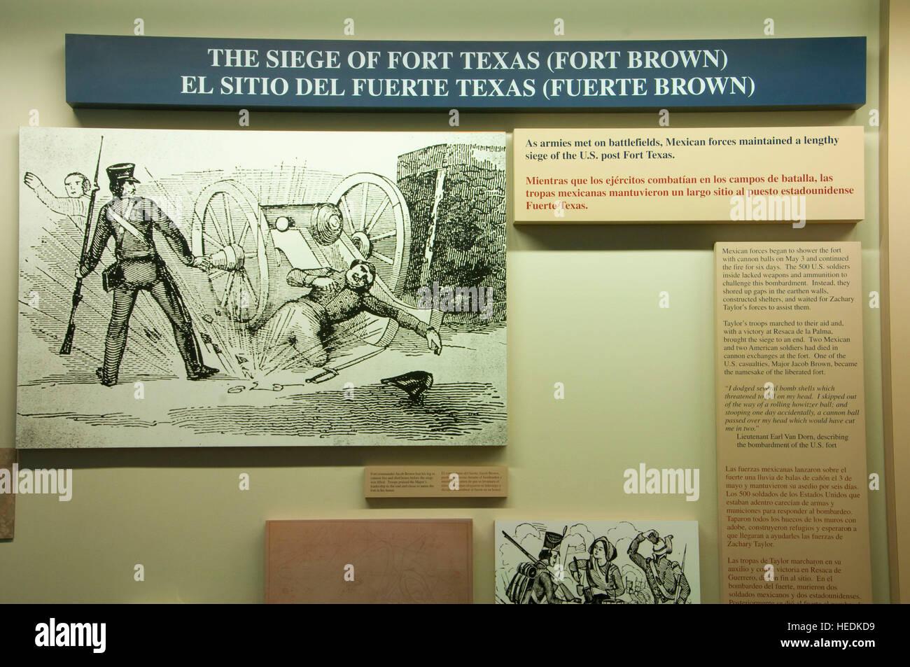 Visitors Center display, Palo Alto Battlefield National Historic Park, Texas Stock Photo