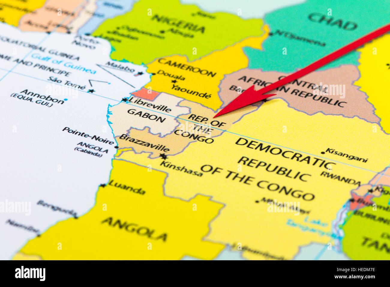 Vector Map Africa Congo Stock Photos & Vector Map Africa Congo Stock ...