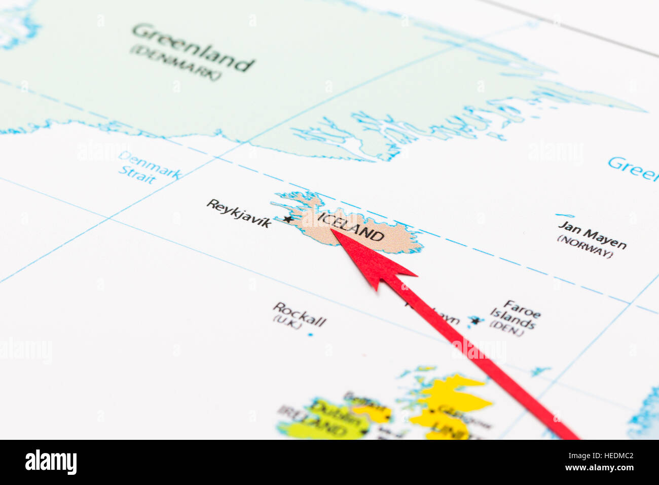 Red arrow pointing Iceland on the map of Europe continent ... on iceland mountains map, iceland map by christiane engel, iceland scandinavia europe, iceland map black and white, iceland physical map, iceland on globe, iceland flag, iceland map with map key, iceland travel, iceland country map, iceland road map, iceland map with volcanoes, iceland global map, world map, iceland topographic map,