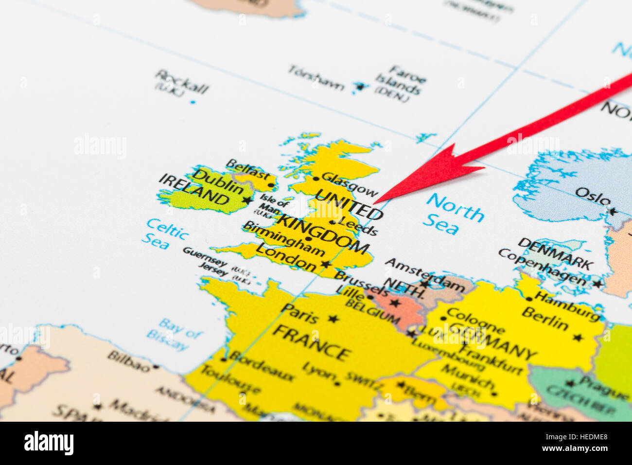 United Kingdom On The World Map.United Kingdom World Map Stock Photos United Kingdom World Map