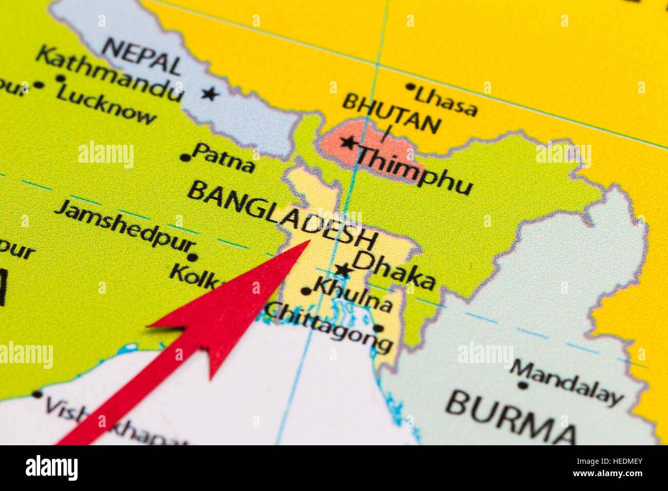 Bangladesh On Map Of Asia.Bangladesh Map Stock Photos Bangladesh Map Stock Images Alamy