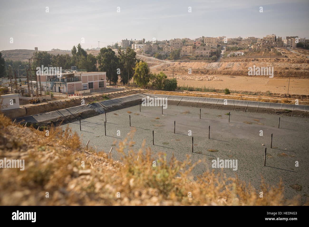 Water sewage pumping station in Zarqa, Jordan. - Stock Image