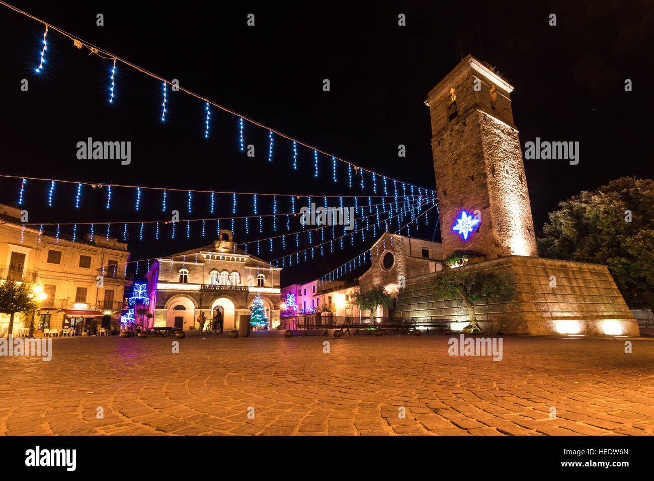 rocca san giovanni abruzzo italy christmas holidays stock image - How Does Italy Celebrate Christmas