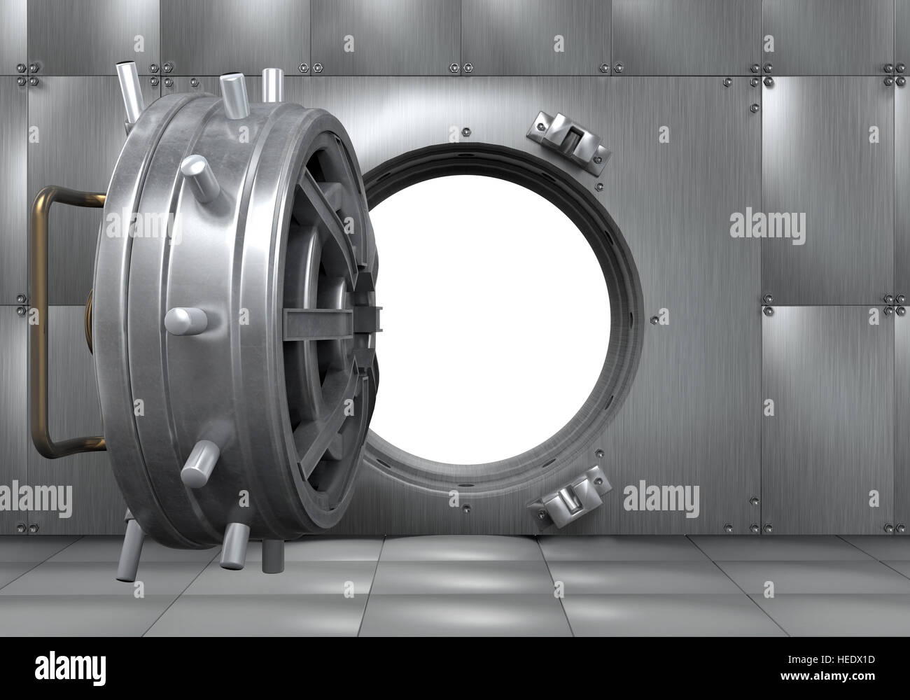 Open Bank Vault Door Open Bank Vault
