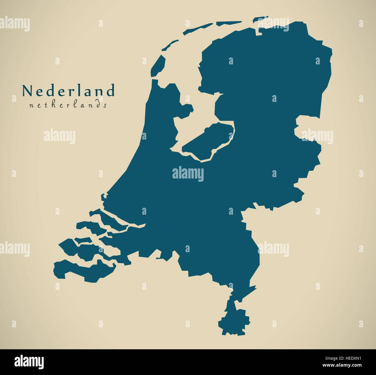 Netherlands Map Illustration Stock Photos & Netherlands Map ...