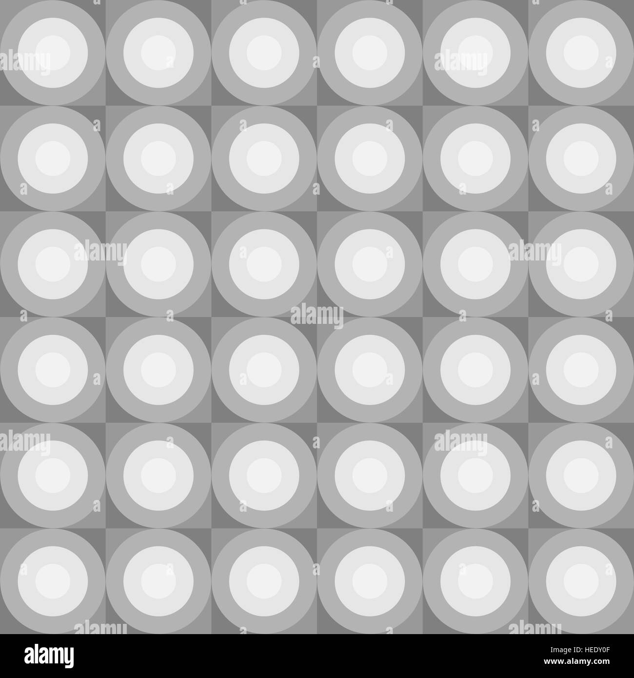 Vector seamless pattern. Abstract background made of rounds - Stock Image
